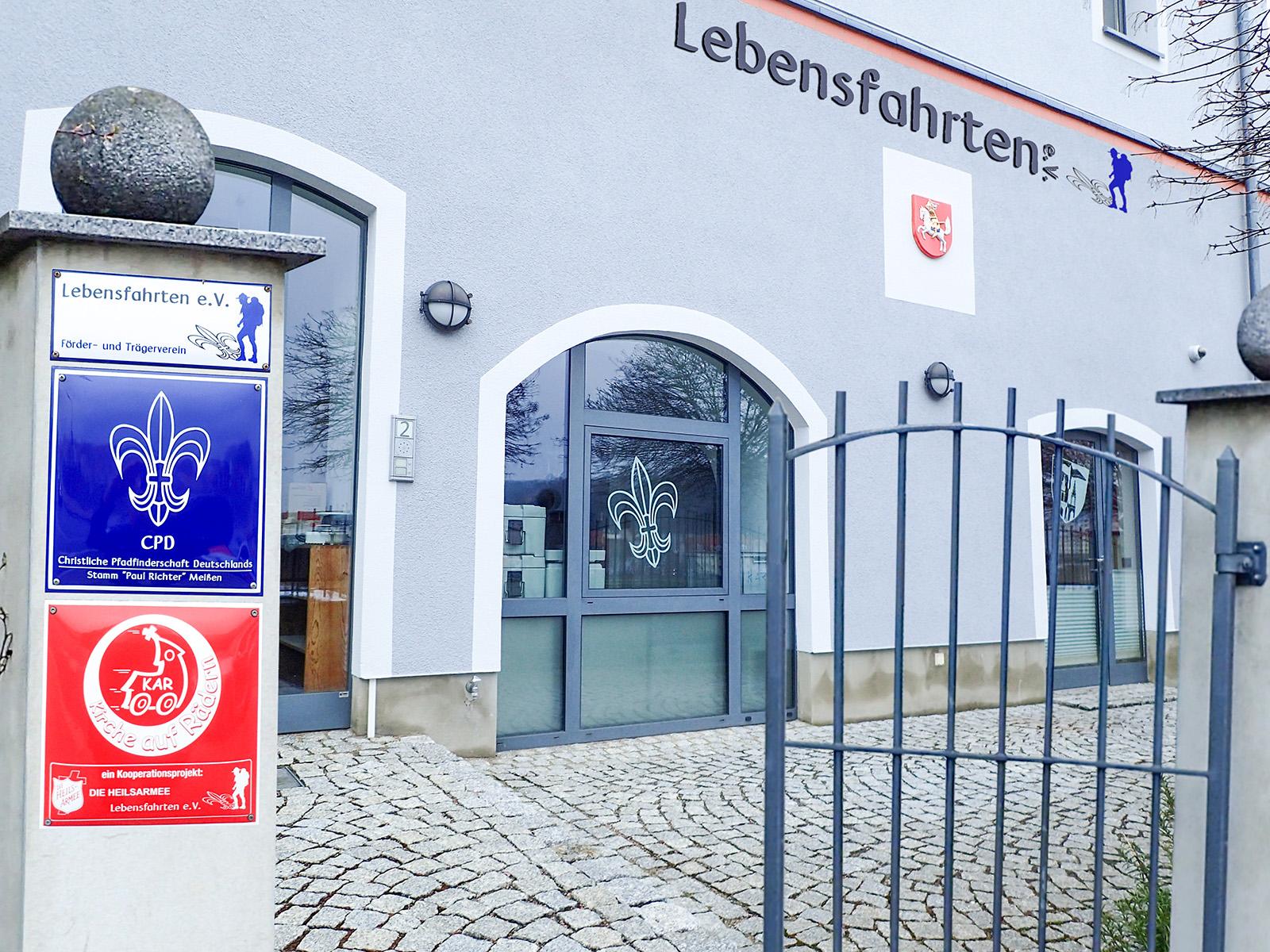 Eingang Gebäude der Lebensfahrten e. V. in Meißen